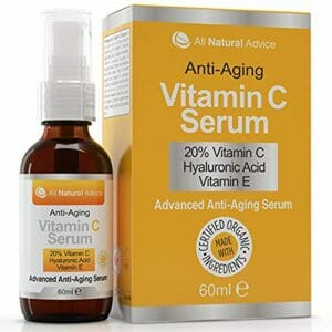 20% Vitamin C Serum – 60 ml – Made in Canada – Certified Organic + 11% Hyaluronic Acid + Vitamin E Moisturizer + Collagen Boost – Reverse Skin Aging, Remove Sun Spots, Wrinkles and Dark Circles, Excellent for Sensitive Skin + Includes Pump & Dropper