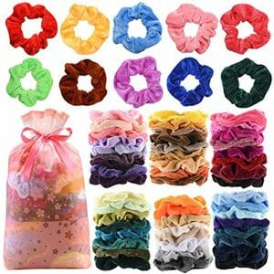 60 Pcs Premium Velvet Hair Scrunchies Hair Bands for Women or Girls Hair Accessories,Great halloween Thanksgiving day and Christmas