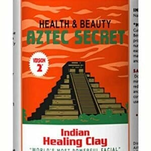 Indian Healing Clay – Deep Pore Cleansing Facial & Healing Body Mask – The Worlds Most Powerful Facial – 100% Natural Calcium Bentonite Clay – 908g – Aztec Secret