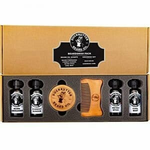 DUCKBUTTER Duck Butter Beard Oil Beardsman Pack – 4 Scents with Brush & Comb Gift Set