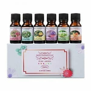 Essential Oils Set – Venus Visage 100% Pure Therapeutic Grade Aromatherapy Oils Gift Set for Diffuser (6 x 10ml) Lavender, Rose, Sweet Orange, Jasmine, Peppermint, Lemon