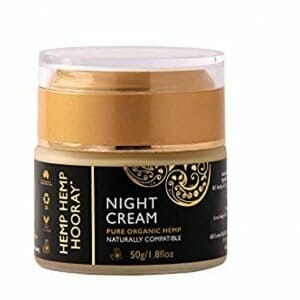 Hemp Hemp Hooray pure hemp oil night cream, natural, hydrating, nightly face moisturiser – 1.8 Fl Oz – 50 grams