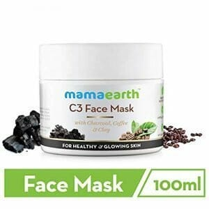 Mamaearth Charcoal, Coffee and Clay Face Mask, Made in the Himalayas- Hypoallergenic, Toxin-free, All Natural with Organic Ingredients