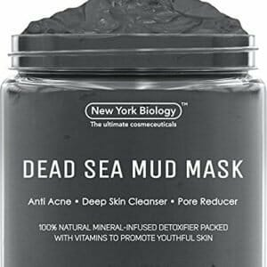 New York Biology Dead Sea Mud Mask for Face and Body – All Natural – Spa Quality Pore Reducer for Acne, Blackheads and Oily Skin – Tightens Skin for A Healthier Complexion – 8.8 oz